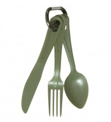 US OD LEXAN 3-PC. EATING UTENSIL