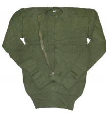 swedish army wool jacket with zipper