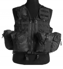 modular vest black