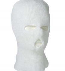 winter face mask white