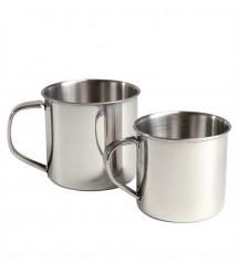metallic cup