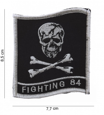 velcro patch with skull