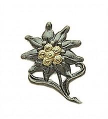 metala zīmotne ar edelweiss zīmotni