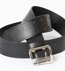 army leather belt black