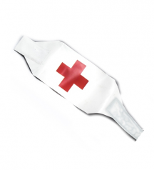 red cross white armband