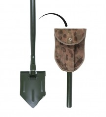 Austrian army folding shovel with cover