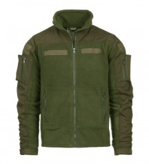 army fleece jacket with patches