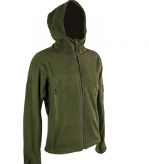 army fleece jacket with hood